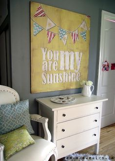 Dangerously Domestic: You are My Sunshine DIY #Nursery