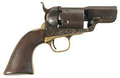 "Civil War Era Factory Engraved Colt Model 1851 Navy ""Belly Gun"" Revolver"