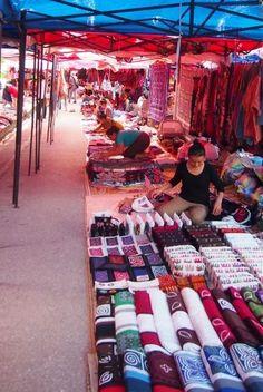 Night Market Luang Prabang Laos.