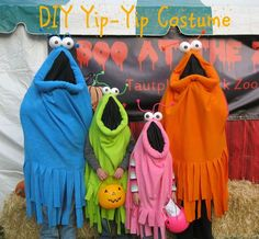 Popper and Mimi Paper Crafts: DIY Yip Yip Costume Tutorial (Yip yip yip yip, uh . - Popper and Mimi Paper Crafts: DIY Yip Yip Costume Tutorial (Yip yip yip yip, uh huh, uh huh) - Cute Costumes, Family Costumes, Diy Halloween Costumes, Halloween Crafts, Halloween Party, Halloween Decorations, Halloween 2015, Yip Yip Costume, Halloween Karneval