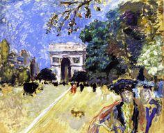 The Arc de Triomphe - circa 1899 by Pierre Bonnard (French 1867-1947)