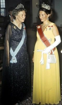 The Royal Watcher - pregnant Crown Princess (now Queen) Sonja of Norway and an unidentified royal