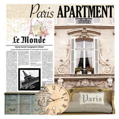 """""""J'adore Paris"""" by elisapar ❤ liked on Polyvore featuring interior, interiors, interior design, home, home decor, interior decorating, Universal Lighting and Decor, French Laundry Home and parisapartment"""