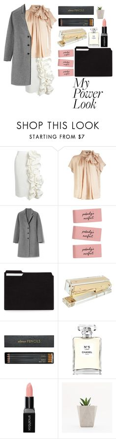 """Classy Power Look"" by ldpbubbles ❤ liked on Polyvore featuring Brock Collection, Gap, Concepts in Time, Sloane Stationery, Chanel and Smashbox"