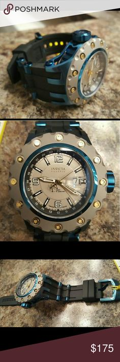 Invicta Subaqua Reserve Edition Watch ***Will sell for $120 outside of Poshmark   -Big 50mm case measurement -New, flawless W/tags and box -Swiss made Divers Watch -Blue, Black w/Gold accents invicta  Accessories Watches