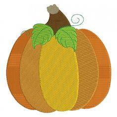 Pumpkin Halloween or Thanksgiving Filled Machine Embroidery Design Digitized Pattern #thanksgiving #embdoidery #appliques #pumpkin