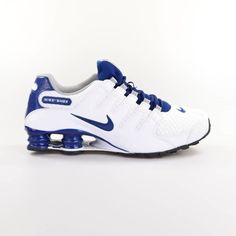 95bf7e8c74 Nike Shox NZ SE Running Shoes Mens Size 10 White Coastal Blue Grey 833579  104