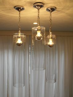 Modern Clear Glass Cylinder Chandeliers with a by TheShapeofLight