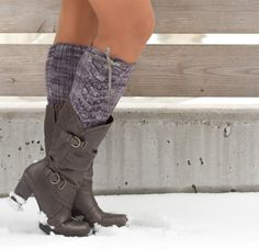 New pattern - Jax, cable knit boot toppers