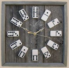 Domino Game Piece Clock