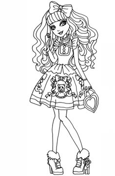 Ever After High Blondie Locks Coloring Page From Category Select 25105 Printable Crafts Of Cartoons Nature Animals Bible And Many