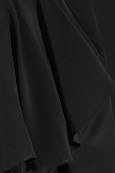 J.W.Anderson - Ruffled Crepe De Chine Blouse - Black - UK14