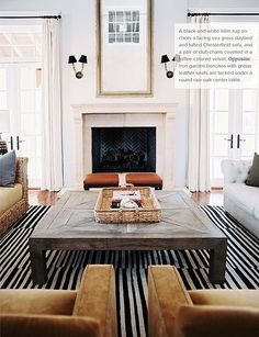 LOVE this coffee table: Sash Adler and Lauren Gold of Nate Berkus Design