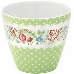 Greengate Ivy green latte cup