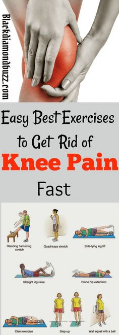 Easy Best Exercises to Get Rid of Knee Pain Fast.These workouts are proven to strengthen your knees and you will get total relief from arthritis patellar tendonitis chondromalacia patellae and lower back pain. Chondromalacia Patellae, Knee Strengthening Exercises, Exercises For Knees, How To Strengthen Knees, Knee Pain Relief, Bad Knees, Nerve Pain, Knee Injury, Back Pain