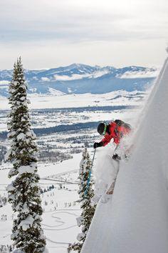 Talk about skiing the steeps @Amanda Snelson Snelson Hole Mountain Resort #ski #skiing #wyoming #snow #winter SkiMag.com