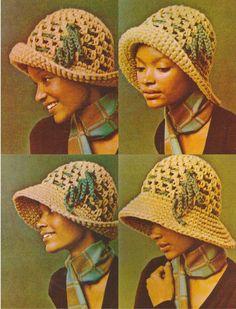 Vintage 1970s Cloche Hat Crochet pattern