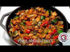 Muslos de pollo con champiñones y muchos vegetales - YouTube