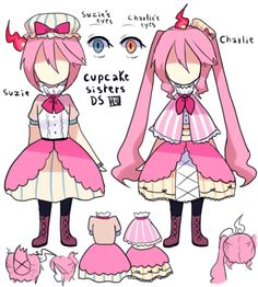 Are these supposed to be the cupcake? I dunno. It could be someone's oc.
