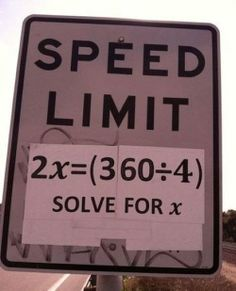 haha I love math, but yes it would take me a minute to solve