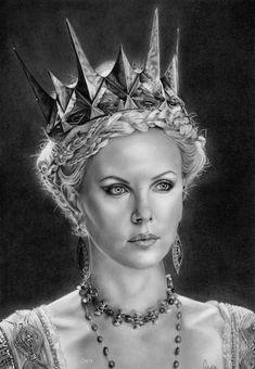 Charlize Theron by ChrisWoottonArt on deviantART ~ Ravenna {Snow White & The Huntsman} ~ traditional pencil art