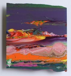 Abdallah 2010 32x32, Gerhard Richter: Laque au dos d'une vitre