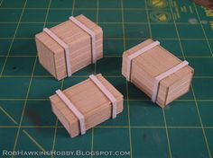 Here's a quick tutorial on how I build crates using a block of foam, with basswood texture glued overtop. The solid construction ensures th...