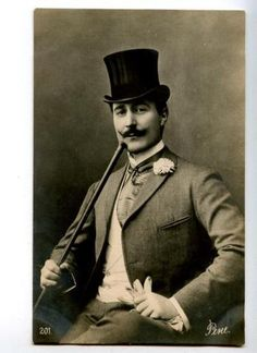 151150 Reney French Drama Theatre Actor TOP HAT Vintage