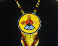 native american butterfly necklacepow-wow