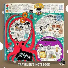 川鍋暁斎の展示に行った日など。 久しぶりに絵の具を使って描いたり。 #日記 #手帳ゆる友 #travelers #notebook #travelersnotebook #手帳 #トラベラーズノート Sketchbook Layout, Sketch Journal, Art Journal Pages, Bujo, Mind Map Art, Travelers Notebook, Mini Doodle, Planners, Commonplace Book