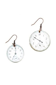 Shoptiques — Wooden Clock Earrings