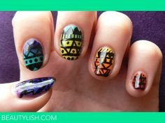This girls nails are rly odd but I like the idea of the design! Fingernail Designs, Cool Nail Designs, Beauty Nails, Hair Beauty, Tribal Nails, Girls Nails, Make Up Time, I Feel Pretty, Creative Nails