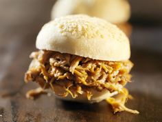 This slow cooker recipe for pulled pork replicates hours spent in the smoker or the oven. It has a South Carolina-style, mustard based sauce.