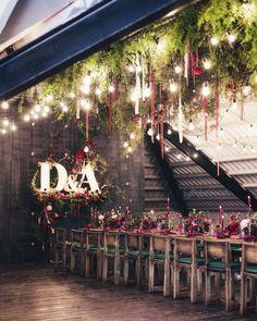 Loft wedding decor, only live plant & flowers @art_petrov  Свадьба в лофте