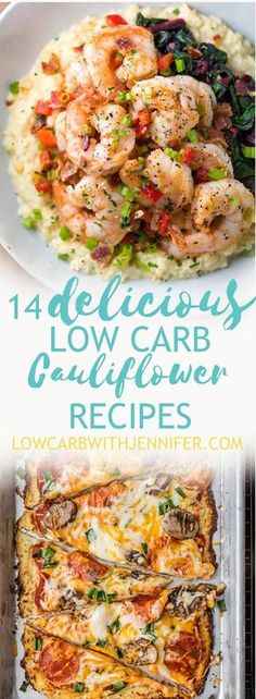 Cauliflower is one of those low carb staples that can be adapted to anything. Here I have found 14 delicious low carb recipes using this versatile veggie!
