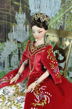 97-5. OOAK dress 'Catherine' for Enchanted Dolls by Natalia Sheppard, via Flickr