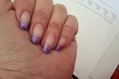 Glitter tips with That's It? Instant Nail Art glitter #92207 Lavender get yours @ www.nailtech.com/shoppe