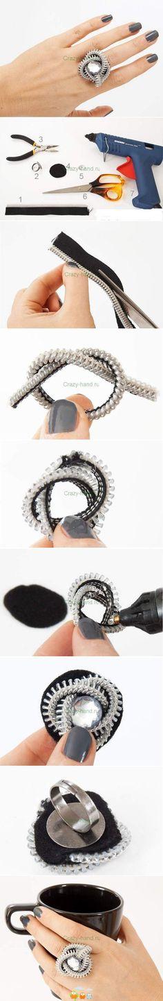 anillo reciclando cremallera