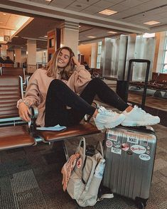 Attractive Travel Outfit Ideas For You Who Always On The Go, . - Attractive Travel Outfit Ideas For You Who Always On The Go, Source by - Airport Travel Outfits, Airport Style, Traveling Outfits, Cute Travel Outfits, Summer Airport Outfit, Summer Cruise Outfits, Comfy Airport Outfit, Comfy Travel Outfit, Airport Fashion