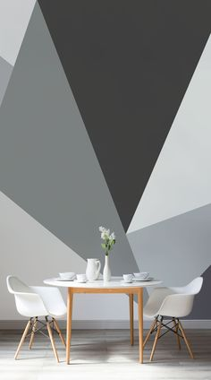 With its clean, angular aesthetic our Convex Wall Mural takes pride of place amongst our beautiful Prism collection. Minimalist yet modern, this is a bang on-trend geometric feature wall idea whose grey colour palette will add an air of cool to any room of the home. #wallpaper #murals #wallmurals #interior #interiordesign #design #home #homedecor #interiordecor #accentwall #inspiration #Ihavethisthingswithwalls