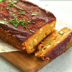 Vegetarian Recipes Discover Vegan Chickpea Meatloaf The ultimate vegan comfort food! This hearty plant-based meatloaf is made from chickpeas! Perfect for special dinners but easy enough for a weeknight. This vegetarian main dish will be your new favorite. Vegan Dinner Recipes, Veg Recipes, Vegan Dinners, Whole Food Recipes, Cooking Recipes, Healthy Recipes, Dinner Healthy, Easy Recipes, Chicken Recipes