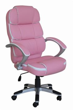 NEW LUXURY SWIVEL EXECUTIVE COMPUTER OFFICE CHAIR K8363 | eBay not pink tho.. maybe red or black