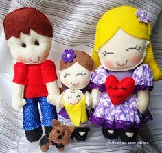 Familia em feltro