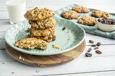 Glutenfrie cookies med havregryn Healthy Cookies, Granola, Biscuits, Flora, Bread, Snacks, Chicken, Baking, Breakfast