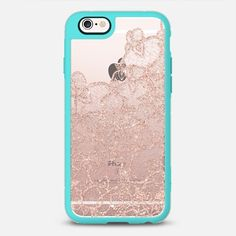 Modern rose gold floral lace illustration by Girly Trend - New Standard Case