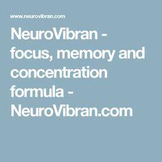 NeuroVibran - focus, memory and concentration formula - NeuroVibran.com