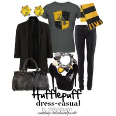 Harry Potter Inspired Fashion: Hufflepuff casual