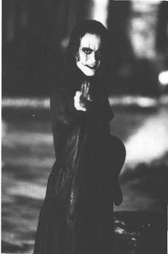 • Brandon Lee, The Crow • so strange how he made me feel strangely comforted every time I saw his face when I was little. I just realized this while going through pictures of Brandon Lee in The Crow. Maybe it was because he was an avenger and a handsome one at that