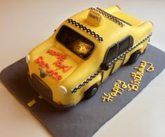 taxi cab cake for greg's annual 29th birthday