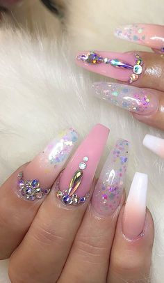 ✨💖Pinterest:Tyyiaaa💖✨ Gem Nails, Aycrlic Nails, Cute Nails, Perfect Nails, Gorgeous Nails, Acrylic Nail Designs, Nail Art Designs, Nail Design Spring, Seasonal Nails